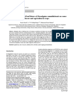 Allelopathic Effects of Leaf Litters Of