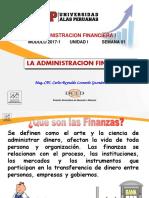 Semana 1 - La Administracion Financiera