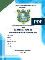 Bacterias Que Se Encuentran en Las Bebidas Alcoholicas