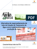 Fabricação de tijolos com uso de lodo de ETA