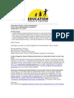 Newsletter September 22 2010