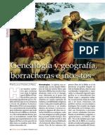 Genealogía y geografía, borracheras e incestos_Eulalio Fiestas_revista Tierra Santa enero-febrero 2017