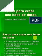 Pasos Para Crear Una Base de Datos