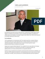 19/Octubre/2018 Atención a no afiliados, gran pendiente