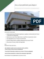 Conoce Los Requisitos y El Procedimiento Para Elegir Al Fiscal en Sonora