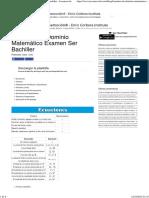 Fórmulas de Dominio Matemático Examen Ser Bachiller - Jovenesweb