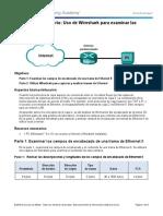 5.1.1.7 Lab - Using Wireshark to Examine Ethernet Frames.pdf