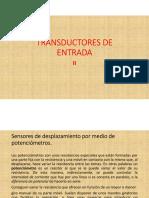 Transductores de Entrada II