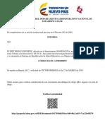 Certificado_sise Jhon F. Kennedy Sta Mta