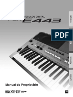 Yamaha PSR E443 Manual Pt