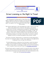 The Declaration of Independence Right Ot Travel Brief