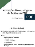 Aula 8 - Aplicações Da Analise de DNA