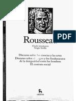 Rousseau Grandes Pensadores Estudio Introductorio