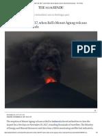 November 28, 2017, When Bali's Mount Agung Volcano Stranded Thousands