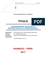 Organizadores Visuales de Metodologia de Investigacion I Original