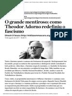 Dinesh D'Souza - O Grande Mentiroso_ Como Theodor Adorno Redefiniu o Fascismo – Mídia Sem Máscara