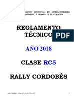 Reglamento Tecnico RC5 18