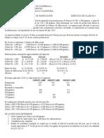 Ordenes Especificas de Fabricacion, Ejercicio Moralejas