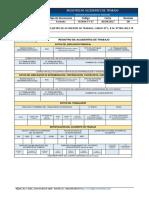 SSOMA-FT-37 Registro de Accidentes de Trabajo