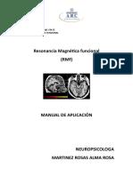 Resonancia Magnética Funcional (RMf) - Manual de Aplicación