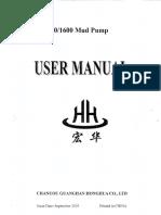 HHF-1300-1600 Mud Pump User Manual -  September 2005