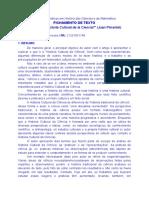 Fichamento Texto_PIMENTEL. Qué Es La Historia Cultural de La Ciencia_Práticas Em HCM 2018