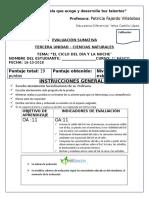Evaluaciones Institucionales Cs. Naturales 4 u4