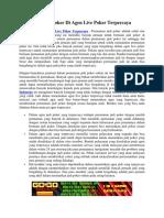 Bermain Poker Di Agen Live Poker Terpercaya - Gogopoker99