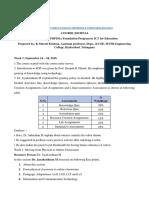 Course Journal KMK