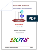 3do informe geoquimica