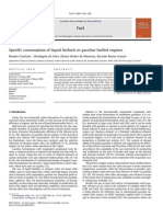 Specific Consumption of Liquid Biofuels in Gasoline Fuelled Engines