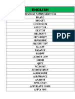 Vocabulary - English for Business and Work