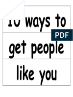 10 ways to get people to like you