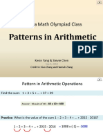 2 - Patterns in Arithmetic