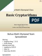 3 - Basic Cryptarithms