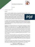 Carta de La Pastoral Afro Al Papa Francisco