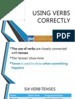 Week 3-Using Verbs Correctly