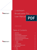 Livestream Broadcaster Pro User Manual