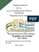 Breve reseña histórica de la Escuela de Educación Técnica República de la India.doc