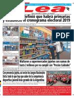Periódico Lea Martes 23 de Octubre Del 2018