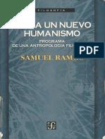 Hacia Un Nuevo Humanismo Ramos
