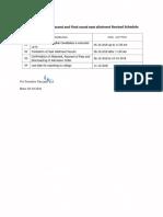 Pgcet r2 Rev Schedule