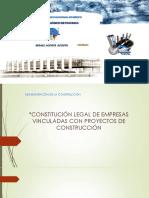 constitución legal de una empresa constructora