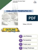 Kebijakan Penerapan K3