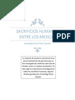 Sacrificios Humanos Entre Los Mexicas