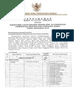 Hasil Seleksi Administrasi Pendamping Disabilitas 20092018