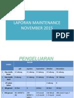 Laporan Maintenance November 2015