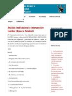 Foladori, H. - Análisis Institucional e intervención familiar