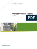 Bank of Canada Monetary Policy Report Vmprjuly10