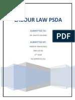 Labour Law PSDA-Harshit Mahalwal